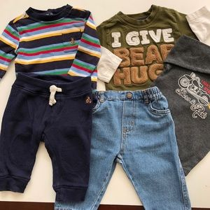 Boy's 3-6 Month 5 Piece Bundle